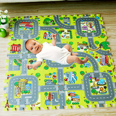 Children's Mats Baby Kids Rug CITY Carpet Car Play Mat Track Crawling