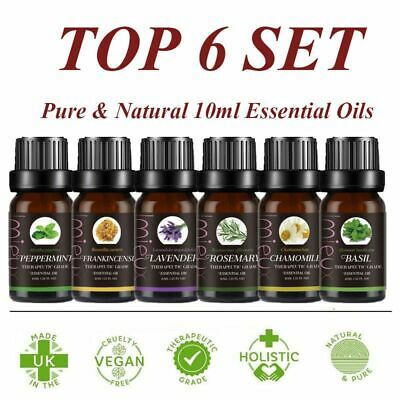 MLIMIEUX Top 6 Essential Oils Set 100% Pure Therapeutic Grade Essential Oils UK