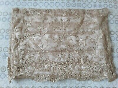 "Antique Lace Nightdress Case Bag 1940's age spots 12"" x 9"""
