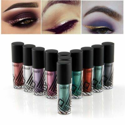 Waterproof Shimmer Eyeshadow Glitter Liquid Eyeliner Metallic 10 Colors Cosmetic