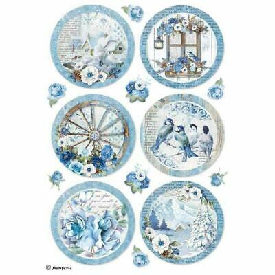 Rice Paper - Decoupage - Stamperia - 1 x A4 Size Sheet - Blue Land