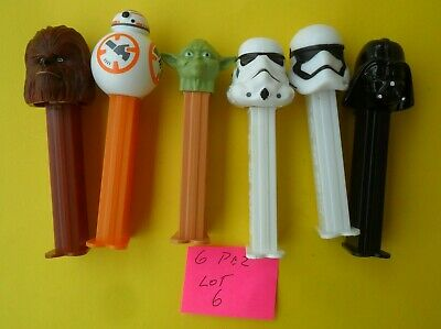 6 Mixed Pez Dispensers In Good Condition Dates Unknown Tracking Post Lot 6
