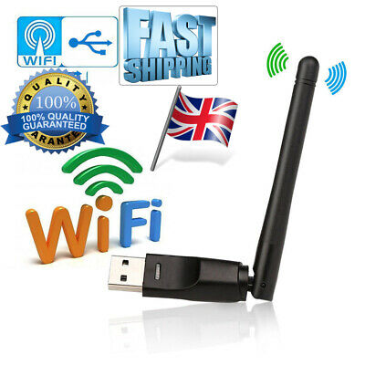 300Mbps USB WiFi Dongle 802.11 B/G/N Wireless Network Adapter for Laptop PC UK