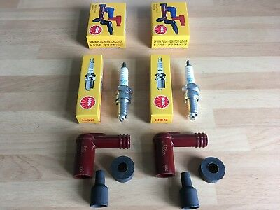 Yamaha Rd125 Dx Rd200 Rd250 Rd350 Rd400 Ngk Spark Plugs And Caps Free Post!