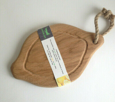 Handmade Rustic Oak Wood Cheese Board Lemon shaped Gin Tonic Limes