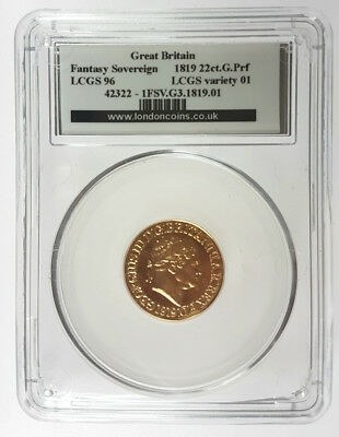 1819 George III Gold Sovereign FDC Modern Proof  Copy Pobjoy Mint LCGS 96 ~MS69