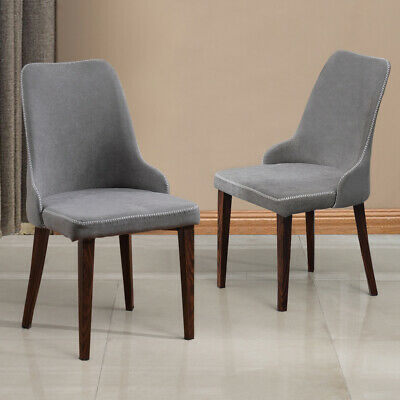 Phenomenal 2X Grey Dining Chairs Lounge Metal Legs Linen Upholstered Gmtry Best Dining Table And Chair Ideas Images Gmtryco