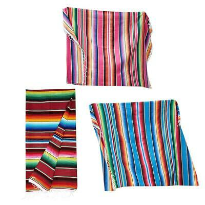 Mexican Rainbow Tablecloth Blanket Yoga Wall Blanket Ideal Bed Table Seat Cover