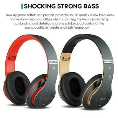 Wireless Headphones Bluetooth Headset Noise Cancelling Micro With Over Ear Z9C7