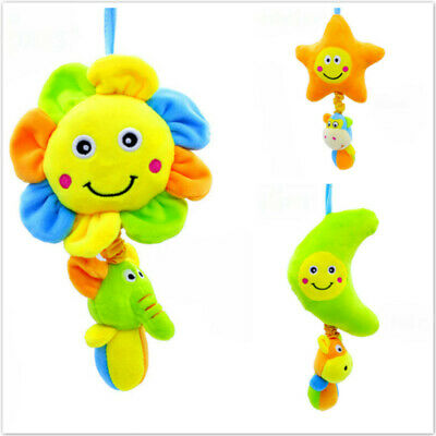 Kids Cartoon Music Plush Pull Bell RattleToys Baby Comfy Soft Plush Dolls Toy SW