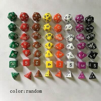 Pearl Multi Side Dice D4 D10 D12 D20 Dungeons D&D RPG Pub Play Toys Great #KP