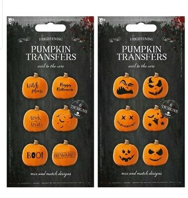 X6 Halloween Pumpkin Stickers transfer - Vinyl Labels