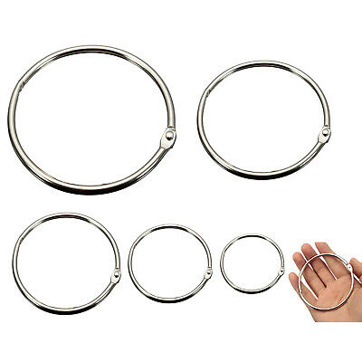 5PCS Split Rings Loop Hoop Hinged Book Binder Album Key Chain Key Ring Great #RP