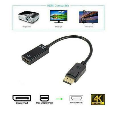 DP Display Port Male To HDMI Female Cable Converter 4K HDMI Adapter Black 1 V5P4