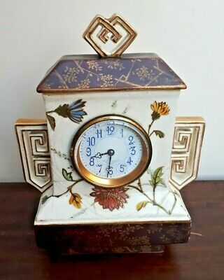 c1880 J.W Benson Mantle clock Wedgwood Aesthetic Japanesque Case FWO