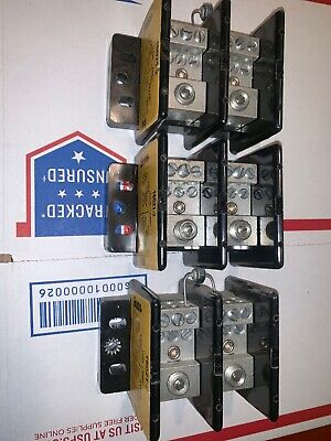 LOT OF (3)  Bussmann 16021-2 Fuse Blocks 175A 600V