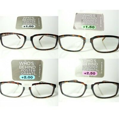 3 PAIRS New Mens Womens Ladies FOSTER GRANT 'Owen' Reading Glasses RRP £28