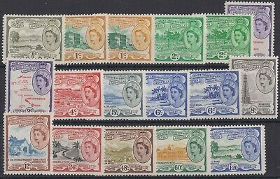 019) St. Kitts,Nevis & Anguilla 1954/63 MM. SG 106a to 117 with varieties. c£48+