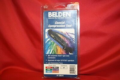 Belden Compression Tool Universal Plunger Style Coaxial Compression F Connectors