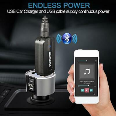 3.5mm Audio USB Wireless Bluetooth Audio Stereo Car Music Receiver Adapter PC.
