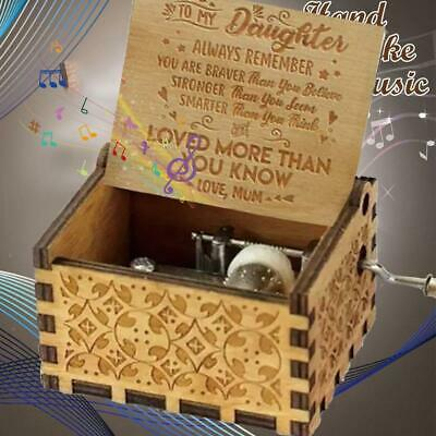 Mom To Daughter-loved more than you know-Music Box Engraved Wooden crafts Gift.