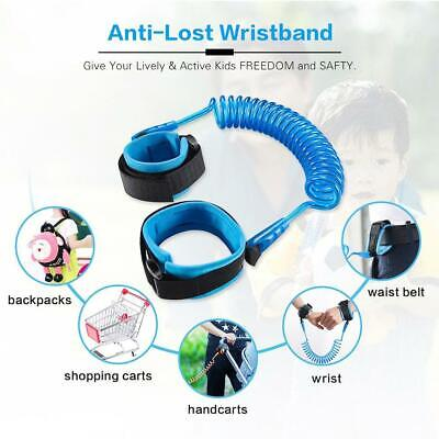 Anti-Lost Toddlers Baby Kid Child Safety Harness Belt Walking Strap Wrist Leash.