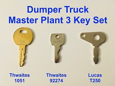 Set of 10 Dumper Keys 92274 New Holland 340 755B 550 540A 555 655 450 Thwaites