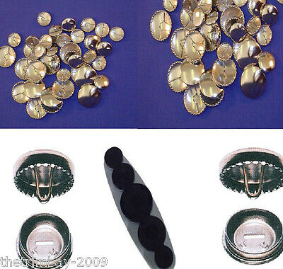 Metal Self Cover Buttons Wholesale Packets All Sizes Available