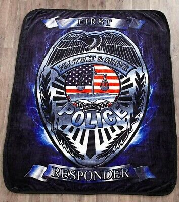 New EMT EMS First Responder Thick Plush Throw Gift Blanket Emergency Rescue SOFT