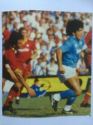 Autografo originale GIUSEPPE GIANNINI-AS Roma 86/87-con Maradona-IN PERSON!