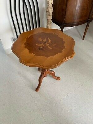 Vintage ornate curved beautifully engraved Swiss table