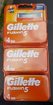 GILLETTE FUSION 5 Blades 4 Pack - FAST FREE POSTAGE