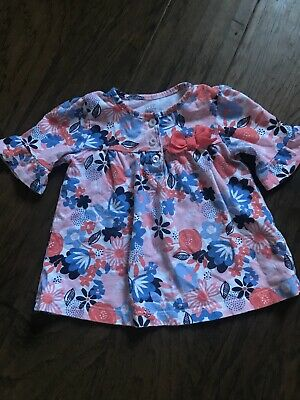 Toddler Girl Half Sleeve Floral Shirt Size 18 Months