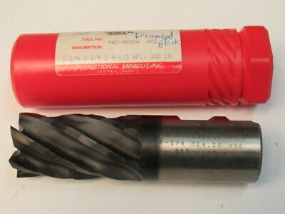 "New  1-1/4  - Hs  Coated  Minicut End Mill - 2"" Loc - 6 Flute - Wavecut"
