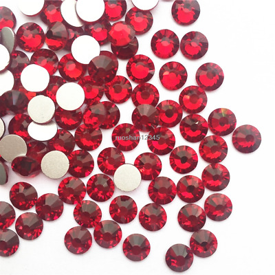 Red Nail Art Rhinestones Glitters Crystals Beads 3D Tips Decorations Crafts