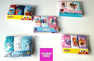 NEW Baby Girls/Boys 18-24 Cotton Frozen Dory Furchester Hotel Briefs Knickers x3