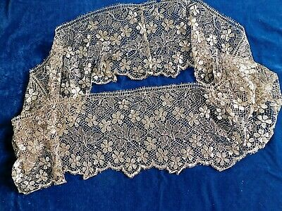 260 X 26 Cm  Antique Gold Metallic Lace Flounce / Edging