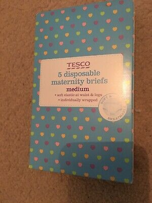 Tesco 1 Pack of 5 Disposable Maternity Briefs Medium 14-16