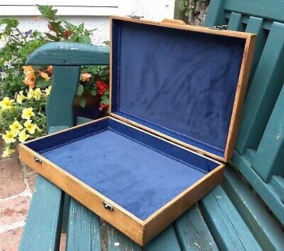 Antique Wooden Document Box Collectors Box Refurbished