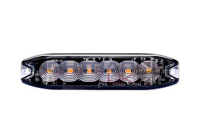 TLED6A 6 LED Slim Recovery Emergency Flashing Amber Strobe Grille LED Light Head