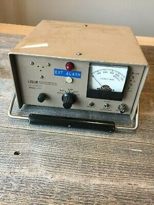 Ludlum 177 Count Rate Meter Radiation Counter Pat No. 3487322 Detector Ratemeter