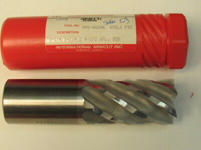 "New 1-1/4 - Six Flute Coated Minicut - Hs End Mill - 2"" Loc"
