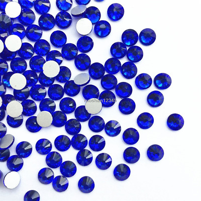 Blue Nail Art Rhinestones Glitters Crystals Beads 3D Tips Decorations Crafts