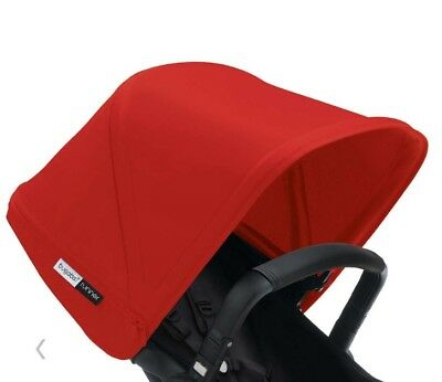 Bugaboo runner and buffalo Red canvas extantdable hood fabric new in box