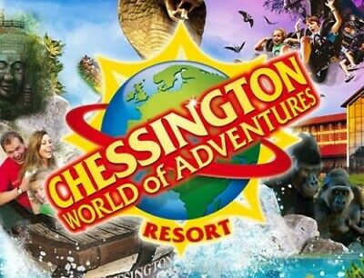 2 X CHESSINGTON WORLD OF ADVENTURE TICKETS - Tuesday 6th august 2019