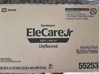 Hypoallergenic Elecare Jr. Ages 1 and Up (Unflavored) ( SEALED) exp. FEB. 2021