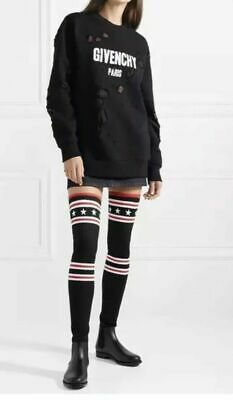 ec4d86ca3 Givenchy Storm Over The Knee Rainboots Star Sock Black NEW Size 40 US 10