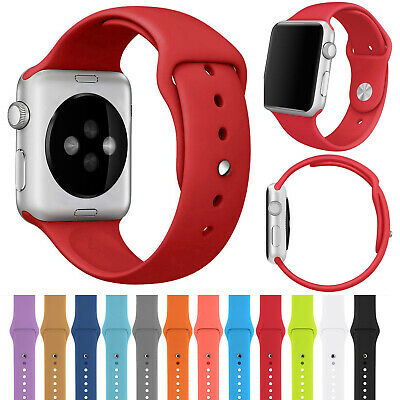 Silicone Sport Band For Apple Watch iWatch 42mm 38mm 40mm Strap Series  1 2 3 4
