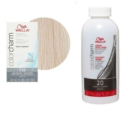 Wella-T10 Liquid Toner Pale Blonde + optional DEVELOPER (Vol.20)