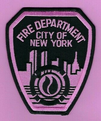 New York City Fire Department Breast Cancer Awareness Patch ~ Awesome Patch